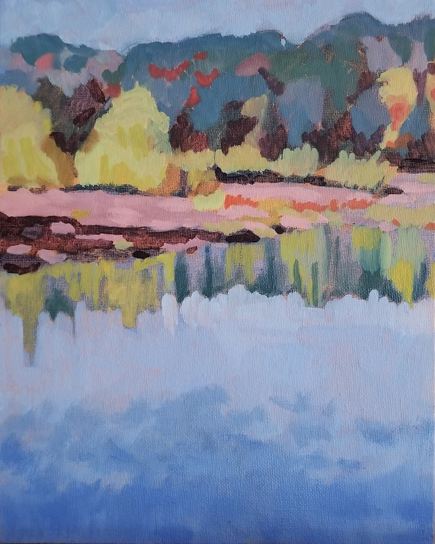 Frenchtown Stillness, a plein air oil painting by artist Fransciso Silva