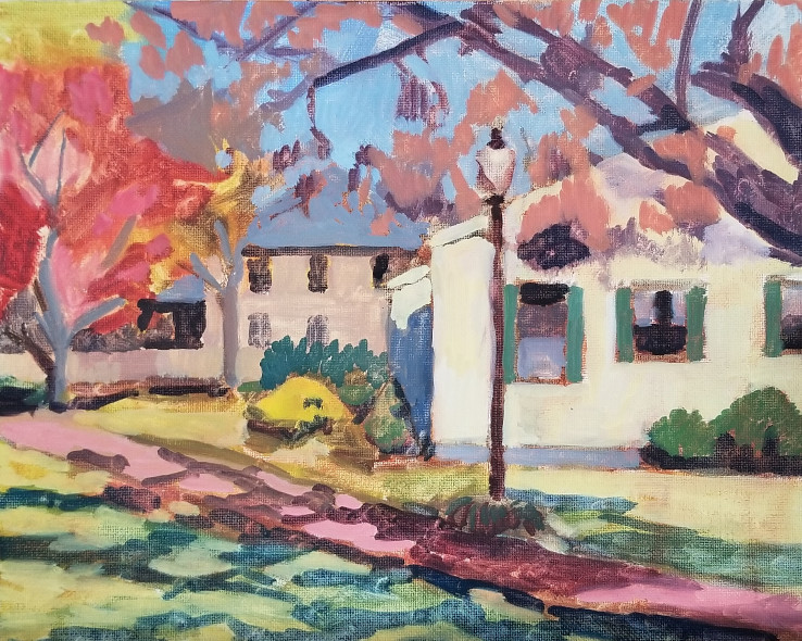 Morning Light at Town Center Park, a plein air oil painting by artist Fransciso Silva