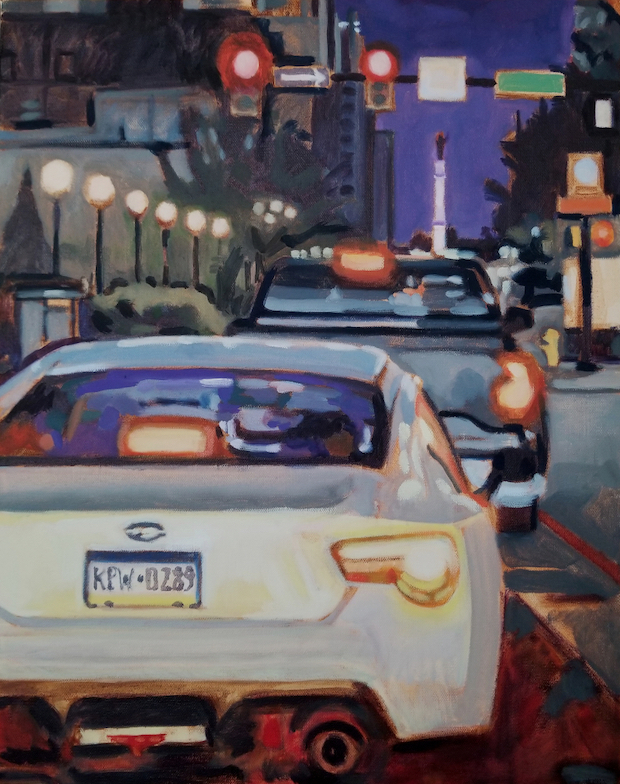 Friday Night Rush Hour by painter Fransciso Silva