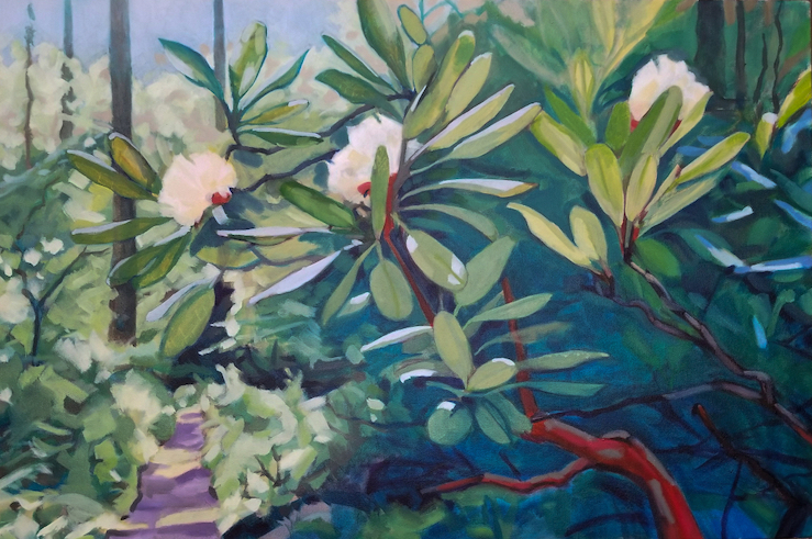 July Blooms on the Dunnfield Creek Trail by painter Fransciso Silva
